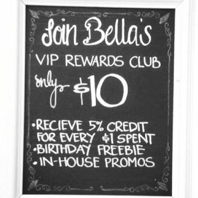 Great rewards for regular customers!
